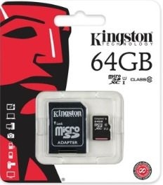 KINGSTON MicroSDHC 64Gb + adaptér