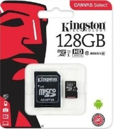 KINGSTON MicroSDHC 128Gb + adaptér
